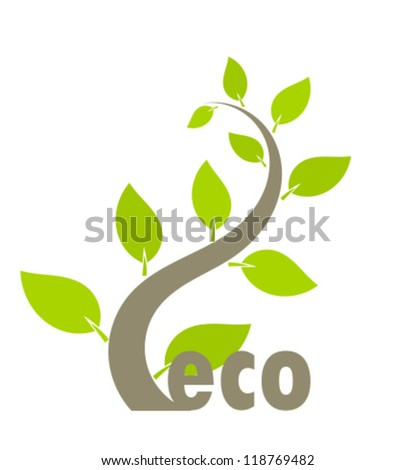 eco growing plant   vector
