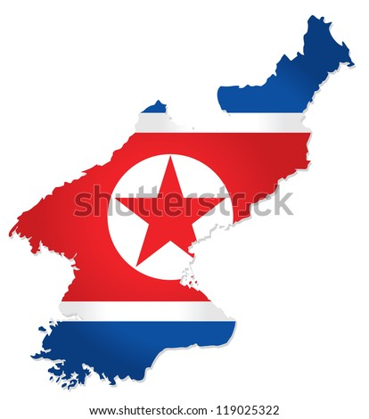 map of north korea with the
