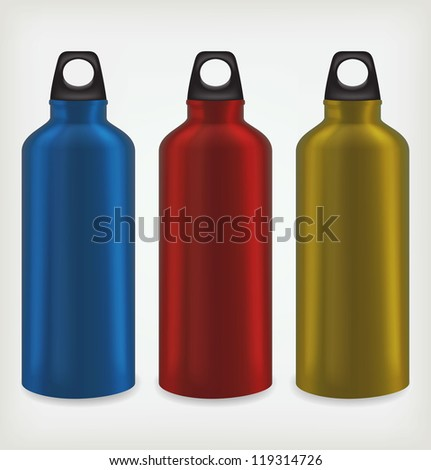 three water bottles for outdoor