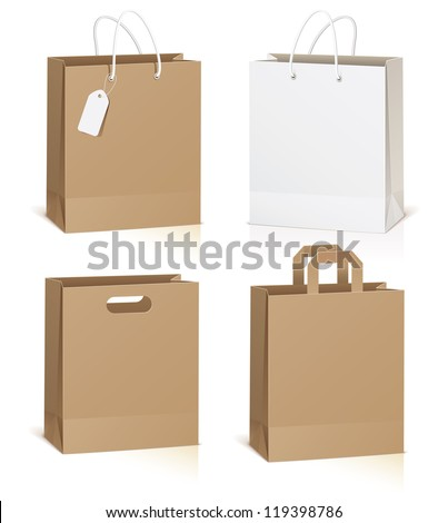 empty shopping bag isolated on