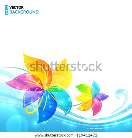 bright shining rainbow flowers
