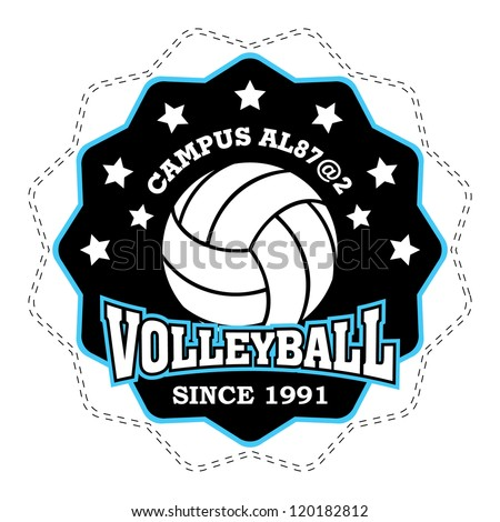 vector volleyball badge
