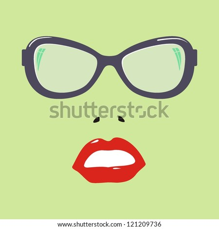 women with glasses vector