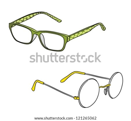 two types of glasses  vector
