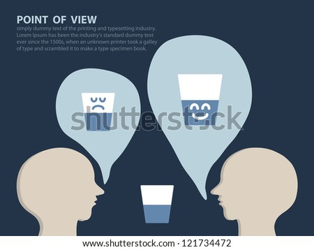point of view concept  vector