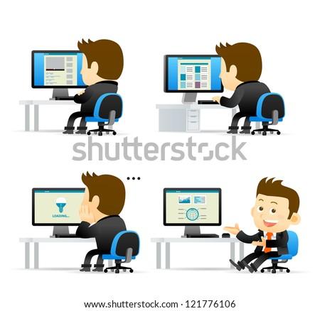 People computers Free Vector / 4Vector