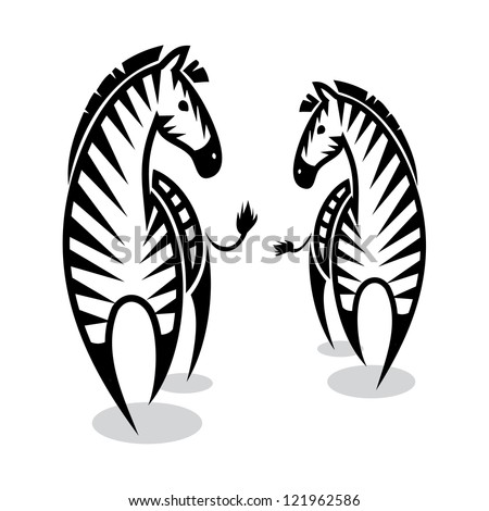 zebras   vector illustration