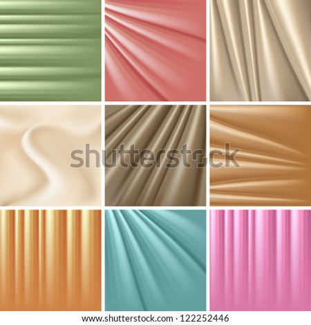 set of 9 satin backgrounds