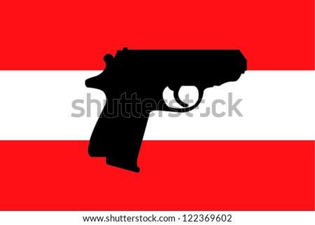 gun flag   austria
