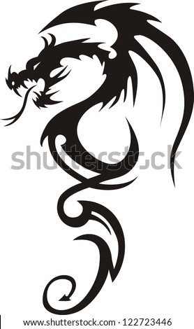 tattoo dragon vector