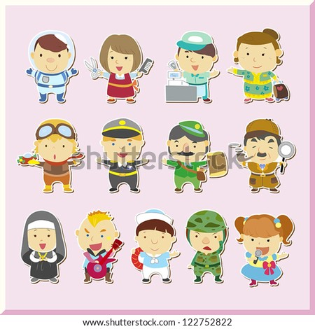 illustration of jobs set  vector