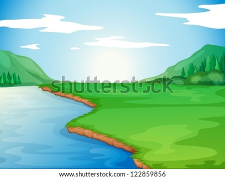 illustration of a river in a