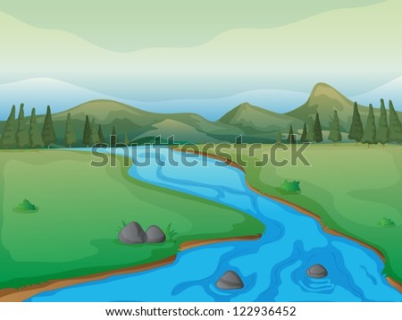 illustration of a river  a