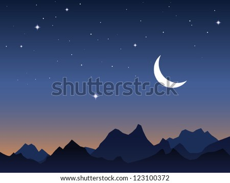dawn sky vector background