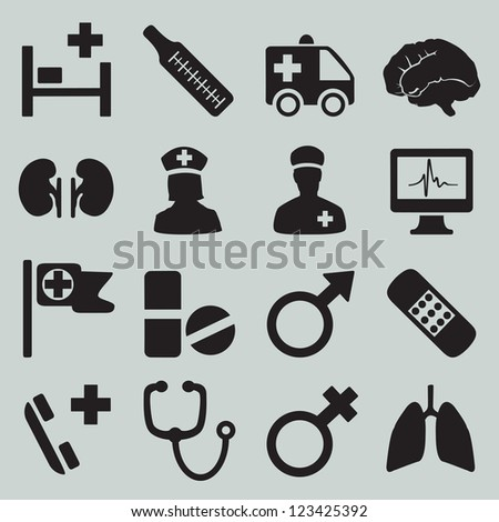 set of medical icons   part 2