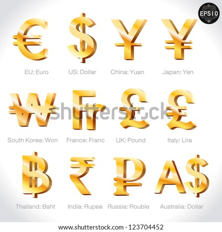currency signs   dollar  euro