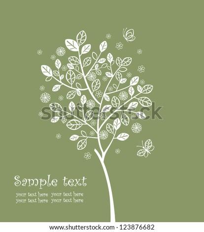 flowered tree