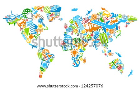 world map of the world from