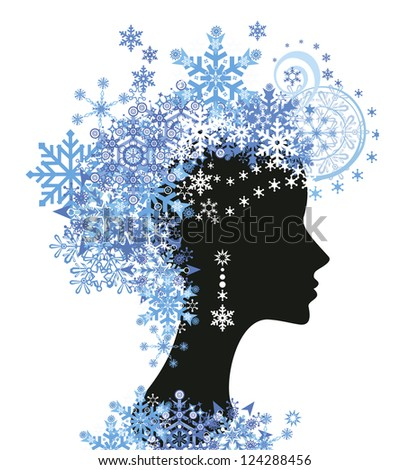 decorative silhouette of woman