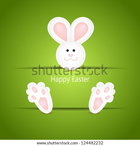 simple easter card with a cute