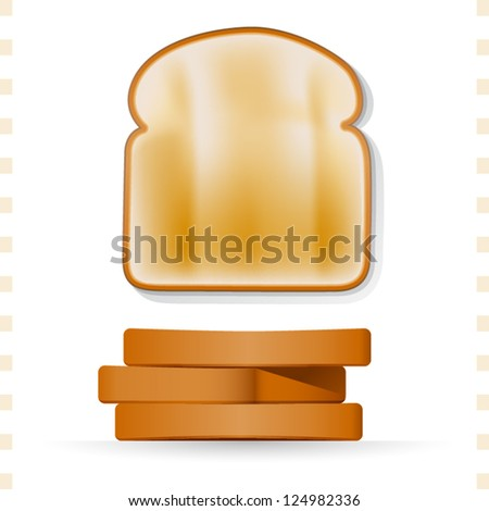 toast icons top and side view