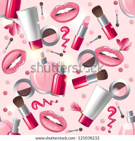 glamorous make up seamless