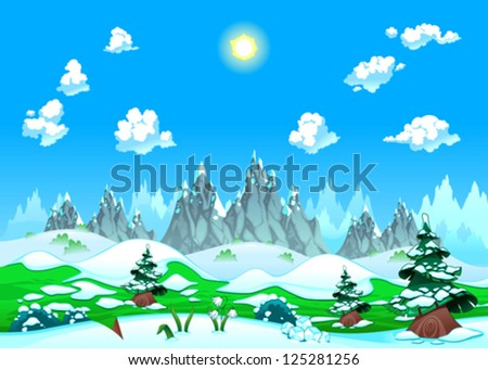 landscape with snow and