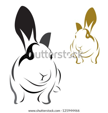 vector image of an rabbit on