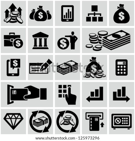 finance   banking icons set