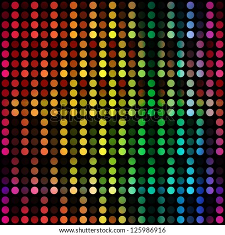 abstract colorful dots pattern