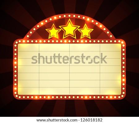 brightly glowing retro cinema