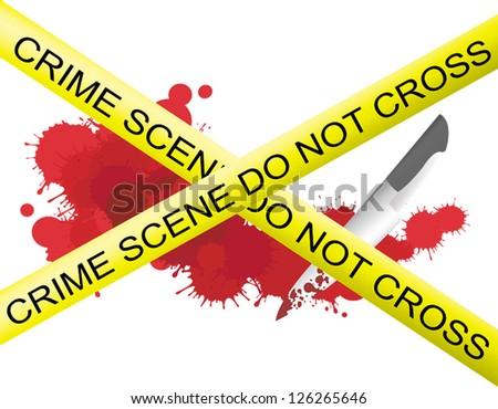 crime scene of a knife murderer