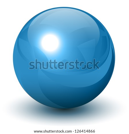 blue metallic sphere