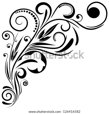 ornament floral design  vector
