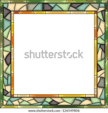 vector square  green stained