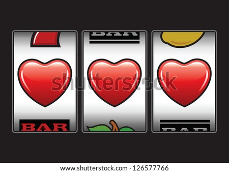 triple hearts valentine slot