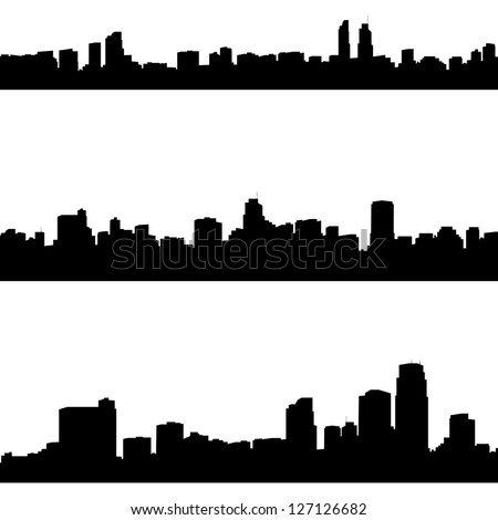 vector silhouettes of abstract