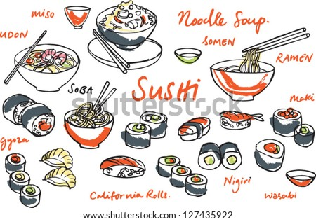 japanese food   sushi   noodles