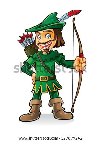 robin hood stood smiling and