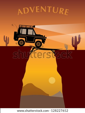 off road adventure  vector