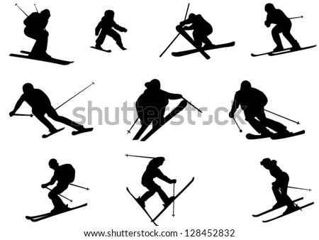 Freestyle Skier Silhouette