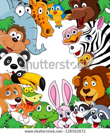 animal cartoon background