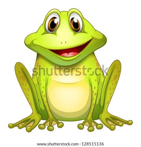 illustration of a smiling frog
