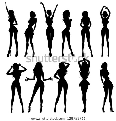 anime models in different poses