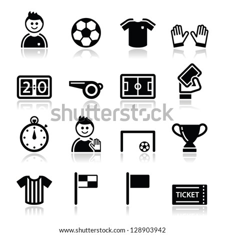 soccer   football vector icons