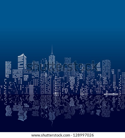 vector city windows with