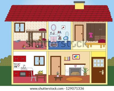 illustration of interior of a