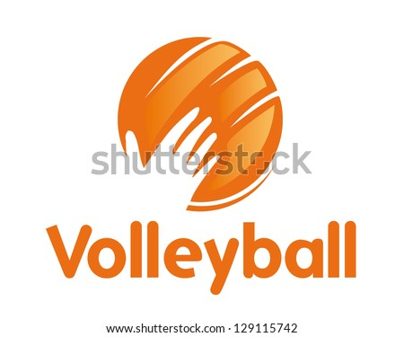 volleyball icon sport symbol
