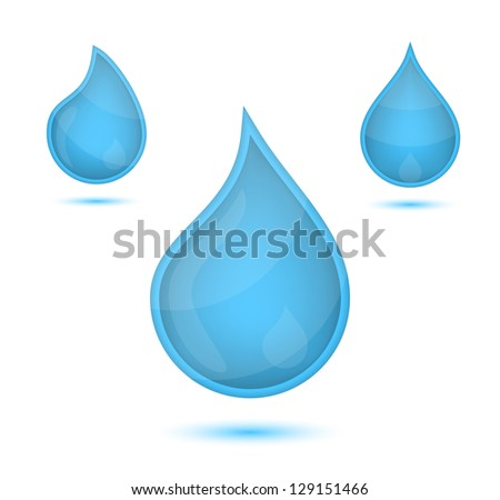 blue liquid drops icon emblem