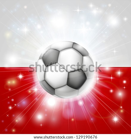 flag of poland soccer